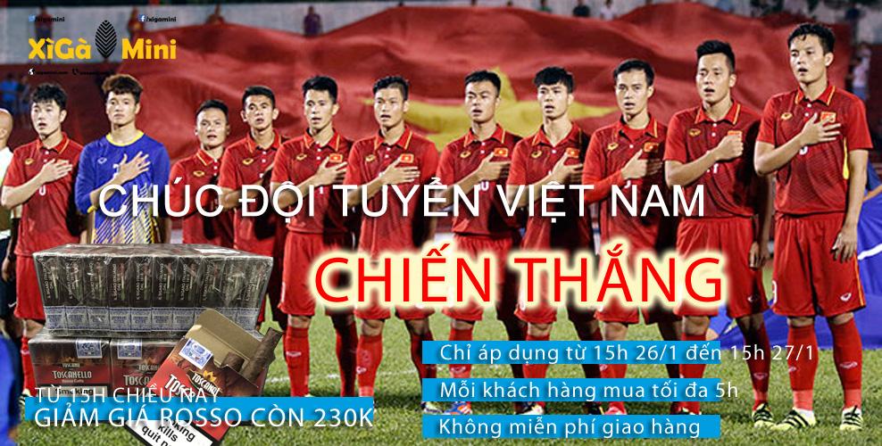 Cùng Xì gà mini chúc đội tuyển Việt Nam chiến thắng